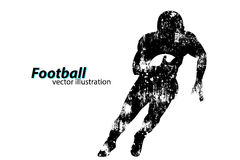 Silhouette of a football player. Rugby. American footballer. Silhouette of a football player. Background and text on a separate layer, color can be changed in Stock Photos