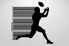 Silhouette of a football player. Rugby. American footballer Royalty Free Stock Image