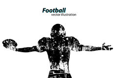 Silhouette of a football player. Rugby. American footballer Royalty Free Stock Photo