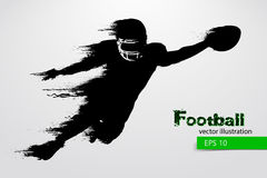 silhouette of a football player. Rugby. American footballer. Vector illustration Stock Photos