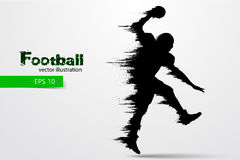 Silhouette of a football player. Rugby. American footballer. Vector illustration Royalty Free Stock Photo