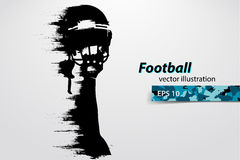 silhouette of a football player. Rugby. American footballer. Vector illustration Royalty Free Stock Photography