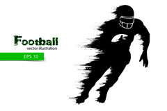 silhouette of a football player rugby american footballer vector illustration royalty free stock