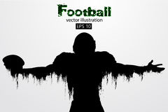 silhouette of a football player. Rugby. American footballer. Vector illustration Stock Image
