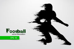 silhouette of a football player. Rugby. American footballer. Vector illustration Stock Images