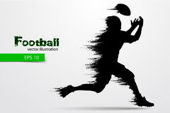 silhouette of a football player. Rugby. American footballer. Vector illustration Stock Photo