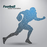 Silhouette of a football player from triangle. Rugby. American footballer Stock Images