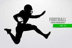 Silhouette of a football player. Vector illustration Stock Image