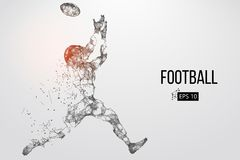 Silhouette of a football player. Vector illustration Stock Photo