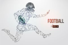 Silhouette of a football player. Vector illustration Stock Images