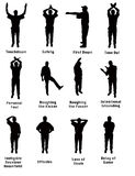 Silhouette of Football Signals