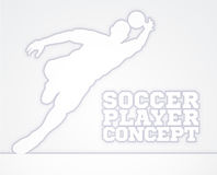 Silhouette Football Soccer Goal Keeper Royalty Free Stock Photography