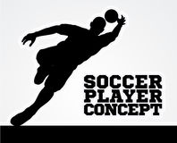Silhouette Football Soccer Goal Keeper Royalty Free Stock Image