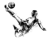 Player who scores goals stock illustration