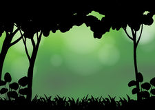 Silhouette forest Royalty Free Stock Images