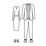 Silhouette with formal suit clothing Stock Photo