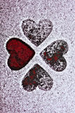 Silhouette of four hearts Royalty Free Stock Photo
