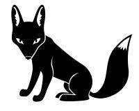 Silhouette fox  Royalty Free Stock Image
