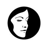 silhouette för 3 mode Arkivbilder