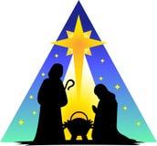 silhouette för eps-familjhelgedom Royaltyfri Foto