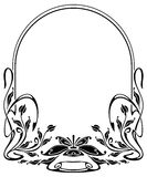 Silhouette frame in art nouveau style Royalty Free Stock Photo