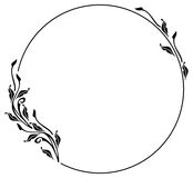 Silhouette frame in art nouveau style Royalty Free Stock Photos