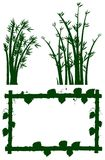 Silhouette frame with bamboo tree. Illustration Royalty Free Stock Photo