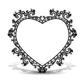 Silhouette frame in the shape of heart for picture or photo Royalty Free Stock Photography