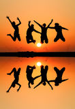 Silhouette of friends Royalty Free Stock Photography