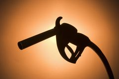 Silhouette Of A Fuel Pump Stock Photography