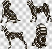 Silhouette géométrique d'un chien Image libre de droits