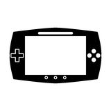 Silhouette game console portable play device Stock Image
