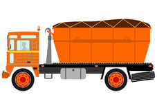Silhouette of garbage truck Stock Images