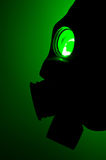 Silhouette of a gas mask Stock Photography