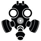 Silhouette of gas mask Royalty Free Stock Image