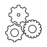 Silhouette gears sign icon Royalty Free Stock Photos