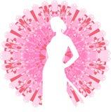 Silhouette of a geisha Stock Image