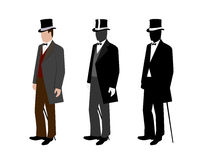 Silhouette of a gentleman in a tuxedo Royalty Free Stock Photos