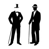 Silhouette of a gentleman in a tuxedo Stock Photography