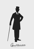 Silhouette of a gentleman in a tuxedo Stock Image