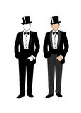 Silhouette of a gentleman in a tuxedo Stock Images