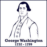 Silhouette George Washington Stock Images