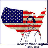 Silhouette George Washington Royalty Free Stock Image