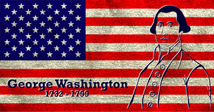 Silhouette George Washington Stock Image