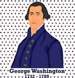 Silhouette George Washington Royalty Free Stock Images