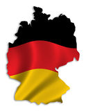 Silhouette of Germany. Outline of Germany filled with german flag - includes clipping path (without drop shadow Royalty Free Stock Photo