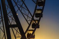 Silhouette of Giant Wheel at Winter Wonderland Stock Image