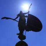 Giraldillo. Silhouette of Giraldillo - famous weathervane (16th century), Sevilla stock photos