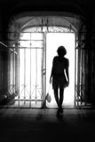 Silhouette of girl Stock Photos
