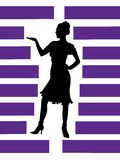 Silhouette  of girl Royalty Free Stock Images